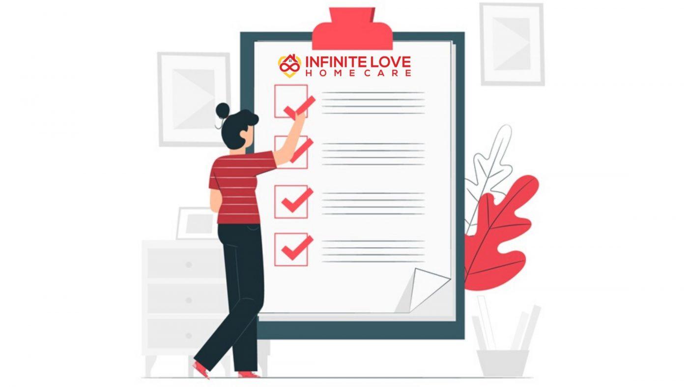 infinite love home care checklist