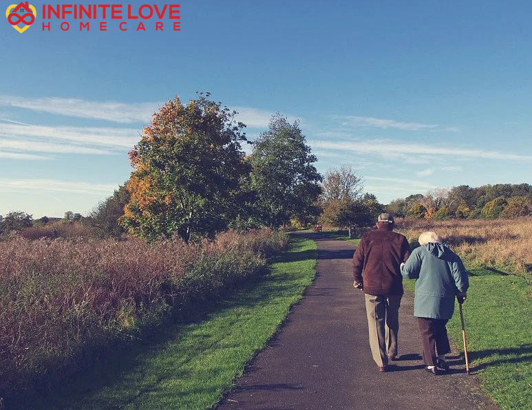 Healthy Aging - Old Couple Walking